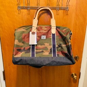 Handbags - NWT Hershel Offset Denim Duffle Bag Camo Edition